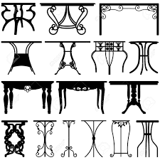 Desk Home Office Furniture by Table Desk Home Office Furniture Design Royalty Free Cliparts