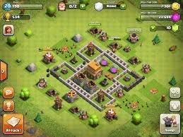 coc village layout level 5 town hall level 5 clash pinterest