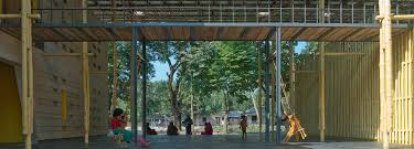 rajarhat community centre traditional materials for a modern