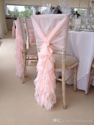 ruffled chair covers 2017 blush pink chair sashes chiffon ruffles chair covers