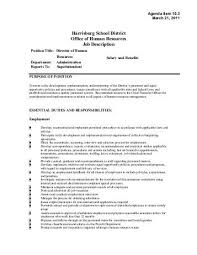 Human Resources Job Description Resume Human Resources Director Job Description Human Resource Manager