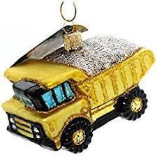 Ornaments For Trucks World Dump Truck Glass Ornament Truck
