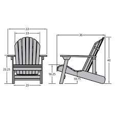 Normal Chair Dimensions Outdoor Poly Furniture Highwood Furniture Hamilton King Folding