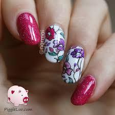 piggieluv 1 design 3 ways floral lead lighting using picture polish
