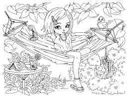 coloring pages teenage girls