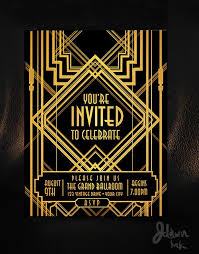 Gatsby Invitations Art Deco Gatsby Style Party Template Design Available On