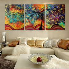 modern art for home decor large wall art abstract tree painting colorful landscape paintings