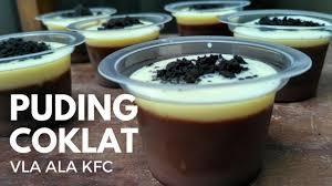 membuat puding fla resep puding coklat vla ala kfc new version lebih ekonomis youtube