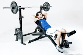 marcy olympic multipurpose home gym workout weight bench and rack