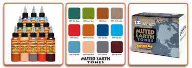 eternal muted earth colour set premier tattoo