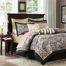 amazon com madison park aubrey 12 piece jacquard complete bed set