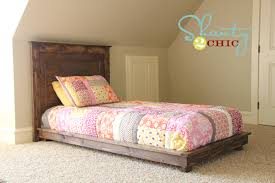 Making A Platform Bed With Headboard by Diy Pottery Barn Inspired Fillman Twin Headboard Shanty 2 Chic
