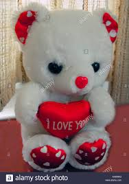 teddy bear with heart saying