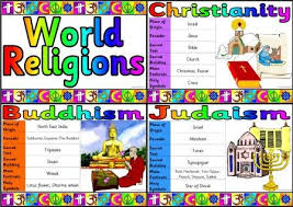 christianity and world religions printable posters and information