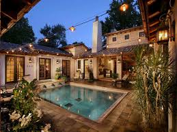 U Shaped House Plans With Pool In Middle Mediterranean House Plans With Indoor Pools 1 Gardens U0026 Pools