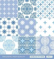 islamic damask backgrounds blue set beautiful ornamentation