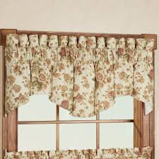 cottage rose windsor valance tier window treatment