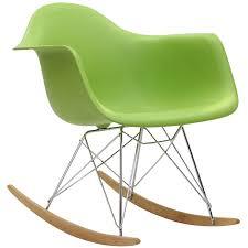 Rocking Chair Online Amazon Com Modway Molded Plastic Armchair Rocker In Green