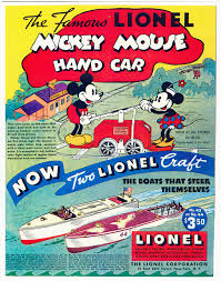 the famous lionel mickey mouse hand car print ads hobbydb