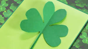 how to make a paper shamrock clover youtube