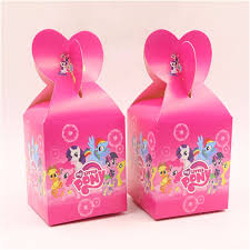 My Little Pony Gift Wrapping Paper - 6pcs lot candy box my little pony theme party supplies loading