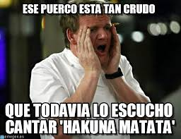 Chef Gordon Ramsay Memes - ese puerco esta tan crudo gordon ramsay meme on memegen