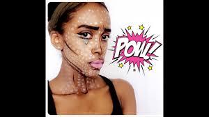 easy comic book pop art cartoon quick halloween makeup youtube
