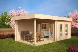 Contemporary Garden Sheds Dubai Log Cabin With Alternative Doorswindows Garden Room Veranda