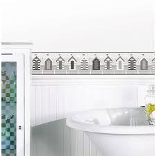 Wallpaper Border For Bathrooms Brewster Bathroom Script Peel And Stick Wallpaper Border Tfdb50033