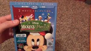 disney mickey u0027s once and twice upon a christmas blu ray review and