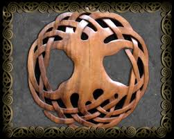 celtic wood carvings by jen delyth celtic tree of hounds