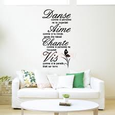 french citation aime ta vie removable vinyl wall sticker home