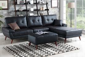 Sectional Sofa With Recliner And Chaise Lounge by Sofas Center Dobson Black Leather Modern Sectional Sofa