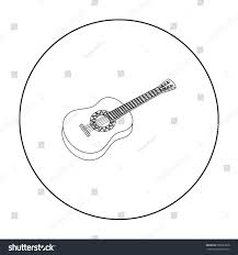 mexican acoustic guitar icon outline style stock vector 582923878