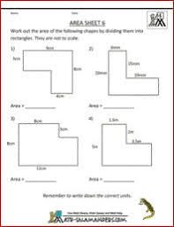 printable area worksheets 3rd grade calculating the area of irregular shapes click to download