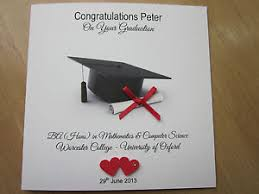 personalised handmade congratulations on your graduation card ebay