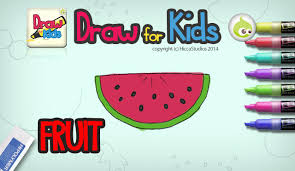 draw for kids fruit android apps on google play
