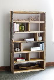 Easy Crate Leaning Shelf And by Diy Rustic Pallet Bookshelf Rustic Bookshelf Crates And Pallets