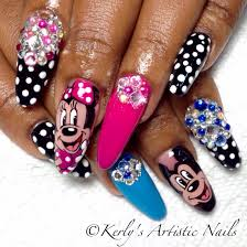 mickey and minnie mouse nail art mickey and minnie mouse nail