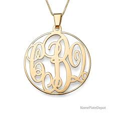 monogram pendants initial monogram necklaces in gold and silver monogram jewelry at