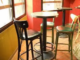 tall round kitchen table retro bistro design with 4 pieces pub style kitchen tables set