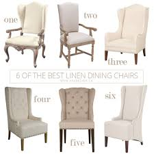Linen Dining Chair 6 Of The Best Linen Dining Chairs