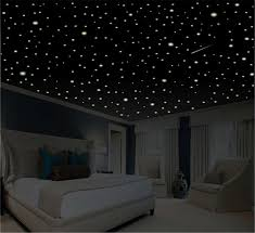romantic bedroom decor star wall decal glow in the dark zoom