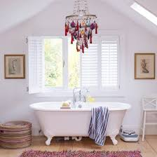 Crystal Chandelier For Bathroom Bathroom Shining Polished Silver Bathroom Chandeliers With Curved