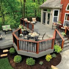Backyard Decks And Patios Ideas Decking Terrain Collection Silver Maple Transitional Deck