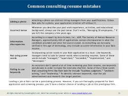 Sample Consulting Resume by Bain Resume Sample