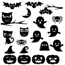 halloween silhouettes u2014 stock vector yuliya m 83804476