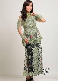 wedding dress batik 21 model dress batik modern kombinasi brokat elegantria