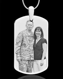 photo engraved dog tags photo engraved silver plated dog tag for remembrance
