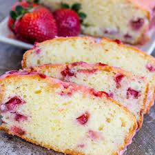 strawberry pound cake with a sweet strawberry glaze